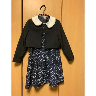 プティマイン(petit main)の卒園式・入学式に!ナルミヤpetit mainのワンピースとボレロ(130)(ドレス/フォーマル)