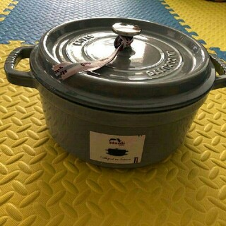 STAUB - グレー 24 鋳鉄STAUBエナメル鍋