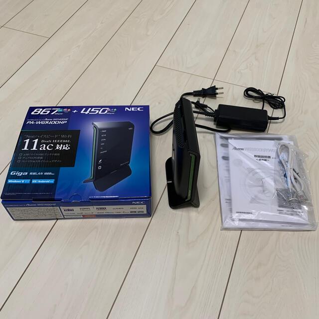 NEC(エヌイーシー)のNEC  Wi-Fiルータ  Aterm  PA-WG1400HP スマホ/家電/カメラのPC/タブレット(PC周辺機器)の商品写真