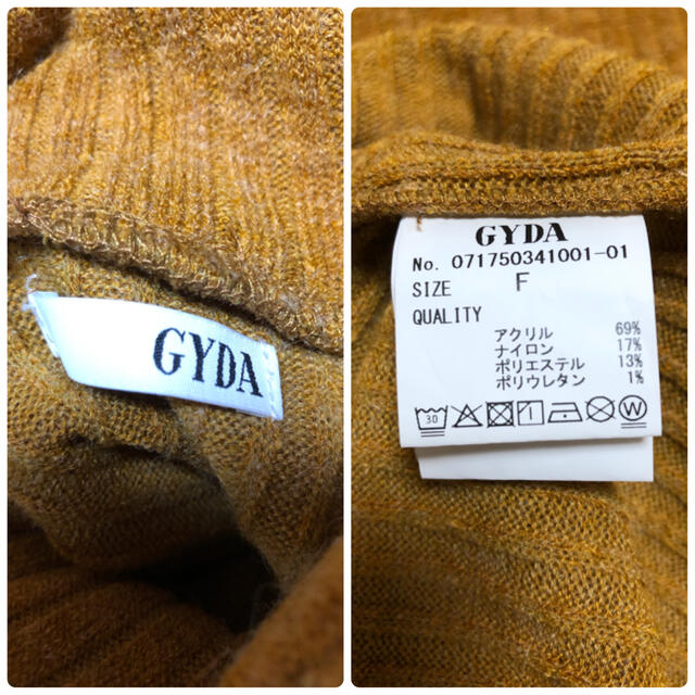 GYDA(ジェイダ)のGYDA  ニット ワンピース サイズフリー レディースのワンピース(ミニワンピース)の商品写真