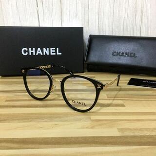 CHANEL - シャネル メガネ 黒フレーム ココマーク3364
