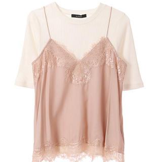 ダブルクローゼット(w closet)のwclosetランジェリー風キャミ(Tシャツ/カットソー(半袖/袖なし))