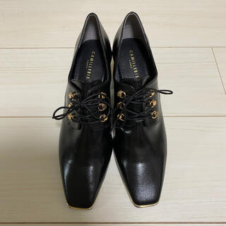 ランダ(RANDA)のRANDA ソフトスクエアトゥーレースアップシューズ(ローファー/革靴)