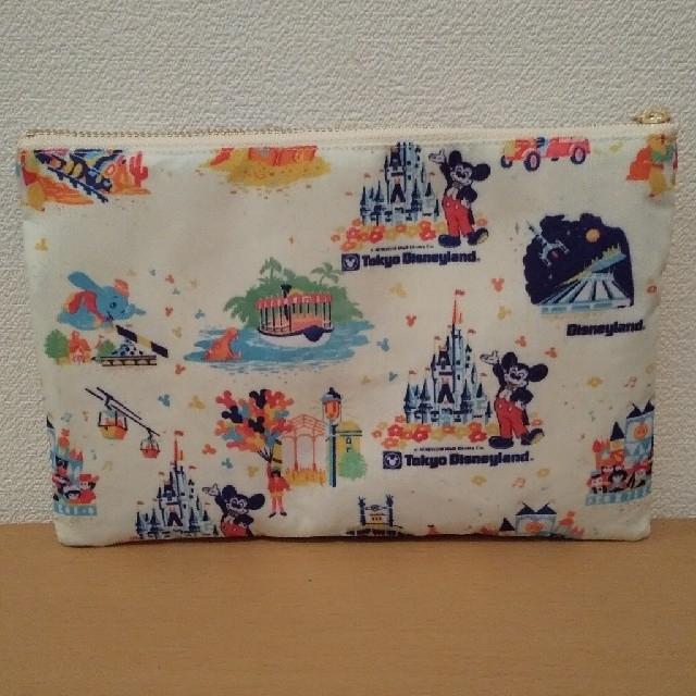ディズニー ショッパー柄 レトロ Wファスナーペンケース ポーチ 紙袋 85 ハンドメイドのファッション小物(ポーチ)の商品写真