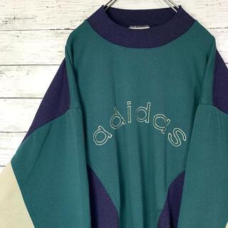 adidas - 【入手困難】90s アディダス 刺繍ビックロゴ 袖ロゴ スウェット XL 人気