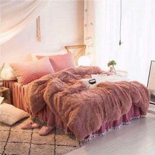 ふわふわ寝具カバーセット掛け布団カバーシーツ枕カバーセットn