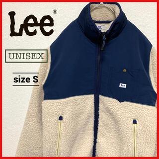 リー(Lee)の90s 古着 リー Lee ボアフリースジャケット ワンポイントロゴ(ブルゾン)