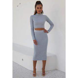 MESHKI knit midi skirt (ロングスカート)