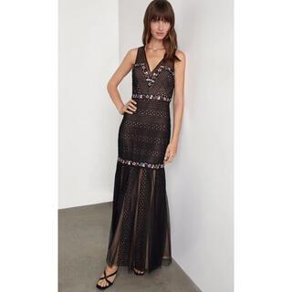 BCBGMAXAZRIA - ❤️ BCBGMAXAZRIA2020秋新作新品 黒花柄ドレス ワンピース