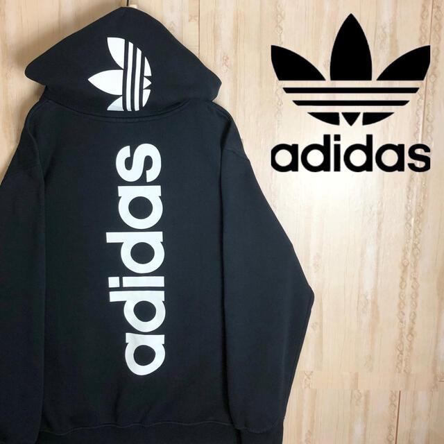 adidas(アディダス)のadidas アディダス パーカー バックロゴ デカロゴ 海外限定 激レア メンズのトップス(パーカー)の商品写真