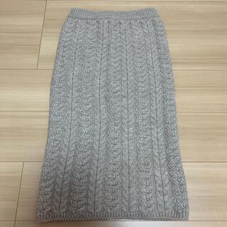 GU - GU♡ケーブルニットスカート