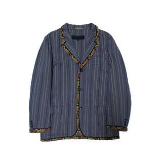 コムデギャルソン(COMME des GARCONS)のcomme des garcons homme ゴブランパイピング 花刺繍(テーラードジャケット)