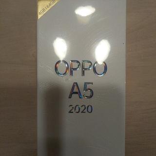 ラクテン(Rakuten)のoppo a5 2020 グリーン 新品未開封(スマートフォン本体)