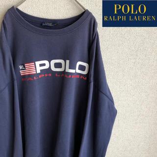 POLO RALPH LAUREN - POLO RALPHLAUREN ロゴプリント スウェット トレーナー XL