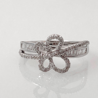 キラキラshop 蝶 デザイン リング ダイヤ ゴールド 指輪(リング(指輪))