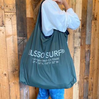 アリシアスタン(ALEXIA STAM)の西海岸ファッション☆LUSSO SURF エコバッグ カーキ☆トートバッグ(トートバッグ)