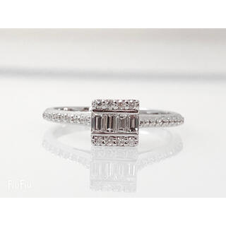キラキラshop 大特価 角 ダイヤ リング 指輪 0.3ct プラチナ(リング(指輪))