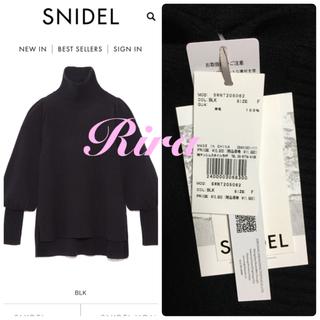 snidel - 完売色🌷新作新品🍀Sustaina ハイネックパフスリニットプルオーバー