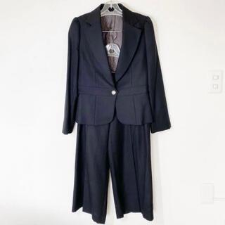 Lois CRAYON - 週末値下げ 新品 Lois CRAYON ロイスクレヨン ワイドパンツスーツ 黒