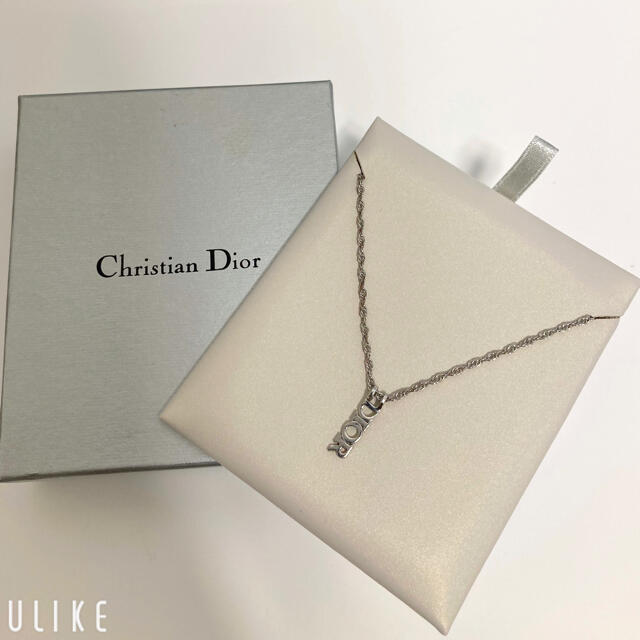Christian Dior(クリスチャンディオール)の【中古品】Christian Dior ディオール ネックレス ショップ袋付き レディースのアクセサリー(ネックレス)の商品写真