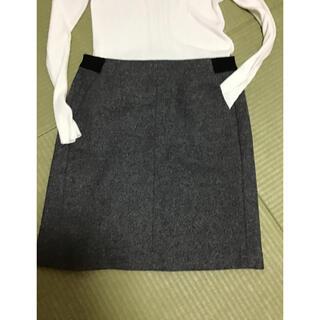 インディヴィ(INDIVI)のINDIVI ウール台形スカート(ひざ丈スカート)