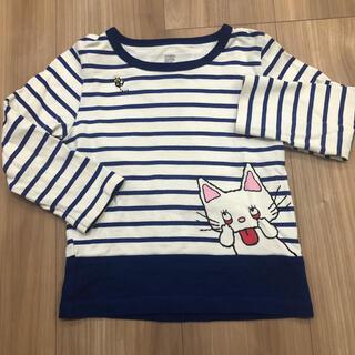 Design Tshirts Store graniph - グラニフ あかんべノンタンボーダーロングTシャツ