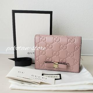 Gucci - 未使用【グッチ】GG シマライン リボンモチーフ カードケース