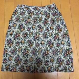 ヴィス(ViS)のゴブラン柄 台形スカート(ひざ丈スカート)