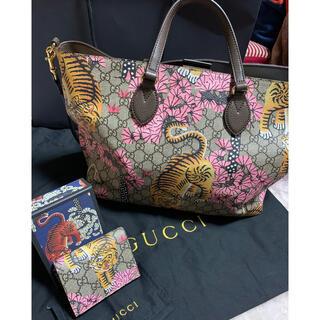グッチ(Gucci)のGUCCI グッチ ベンガル 虎 財布 二つ折り財布 トートバッグ 桜(トートバッグ)