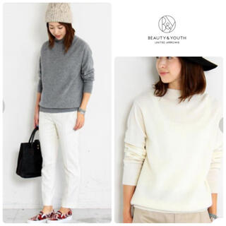 BEAUTY&YOUTH UNITED ARROWS - BEAUTY&YOUTH UNITED ARROWS ウールカシミヤニット
