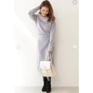 プロポーションボディドレッシング(PROPORTION BODY DRESSING)の2019AWプロポ新品*ジオメタリーノルディックニットワンピース(ひざ丈ワンピース)