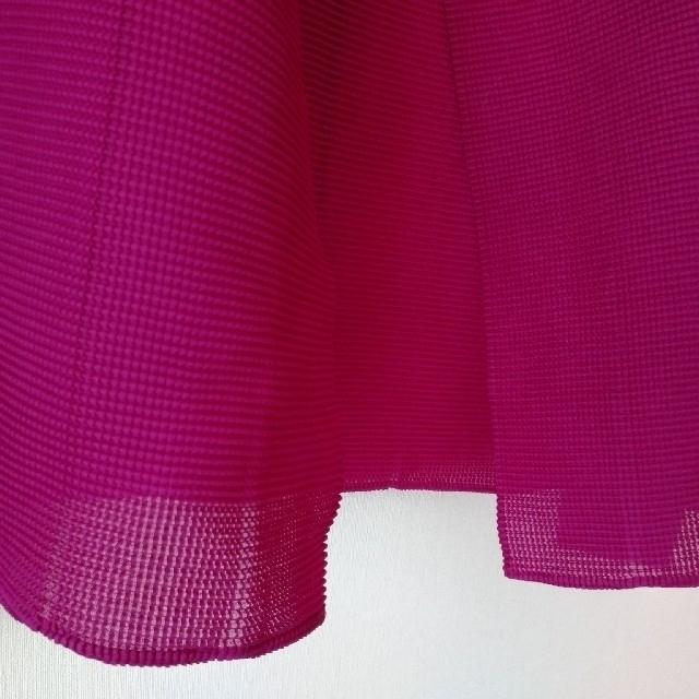 ISSEY MIYAKE(イッセイミヤケ)のミーイッセイミヤケ ピンク カーディガン レディースのトップス(カーディガン)の商品写真
