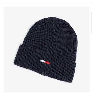 TOMMY - ニット帽 ニットキャップ ネイビー