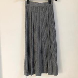 ルシェルブルー(LE CIEL BLEU)のニットプリーツスカート ロングスカート ニットスカート グレー(ロングスカート)