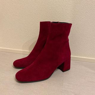 トゥモローランド(TOMORROWLAND)の新品★maypol スペイン製スエードレザーショートブーツ(ブーツ)