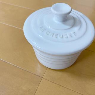 ルクルーゼ(LE CREUSET)のル・クルーゼ ミニココット 白 丸 ホワイト ルクルーゼ(食器)