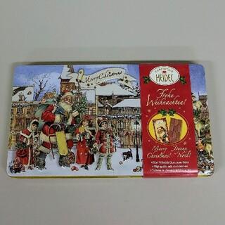 KALDI - カルディ*クリスマスチョコ ノスタルジックエンボス缶