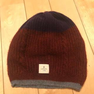 ランバンオンブルー(LANVIN en Bleu)のLANVIN en Bleu  カシミヤ ニット帽(ニット帽/ビーニー)