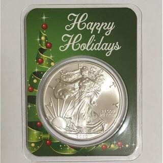 2020 イーグル銀貨1オンス クリスマス特別バージョン「リボンツリー」(貨幣)