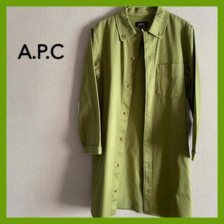 アーペーセー(A.P.C)のAPCアーペーセージャケットコート古着女子ミリタリーシャツ(スプリングコート)