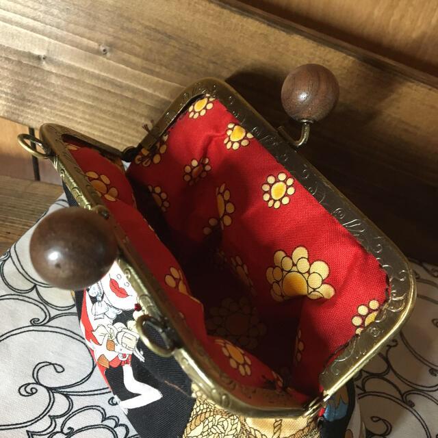 ♡handmade♡ ロラライハリス がま口ポーチ ハンドメイドのファッション小物(ポーチ)の商品写真