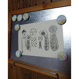 mina perhonen - ミナペルホネン jerry beans マグネット ブリキフレーム付き