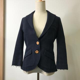 ダブルスタンダードクロージング(DOUBLE STANDARD CLOTHING)のダブルスタンダードクロッシング テーラード ジャケット 七分袖 ネイビー 36(テーラードジャケット)