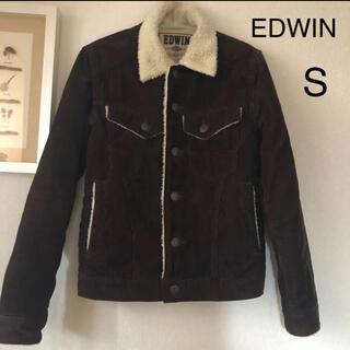 エドウィン(EDWIN)のEDWIN ボアジャケット コーデュロイ Sサイズ メンズ ブラウン(Gジャン/デニムジャケット)