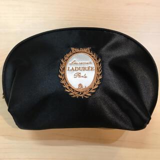 LADUREE - LADUREE   ラデュレ コンパクトポーチ ブラックサテン 新品