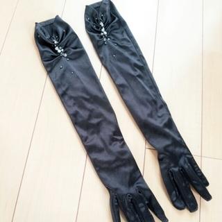 スコットクラブ(SCOT CLUB)のビジュー付*blackグローブ(手袋)