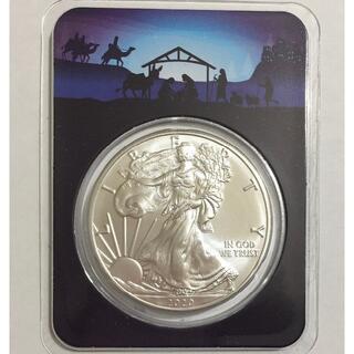 2020 イーグル銀貨1オンス クリスマス特別バージョン「キリスト降誕」(貨幣)