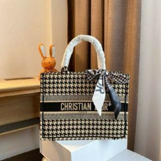 Christian Dior - クリスチャン ディオール ブック トートバッグ 千鳥格