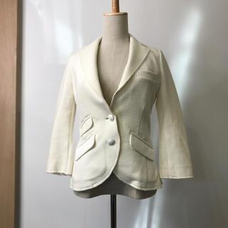 ダブルスタンダードクロージング(DOUBLE STANDARD CLOTHING)のダブルスタンダードクロッシング テーラード ジャケット 七分袖 ホワイト 36(テーラードジャケット)