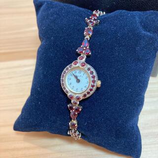 アガット(agete)の美品! 人気品 正規品 アガット ガーネット 時計 ブレスレット(腕時計)
